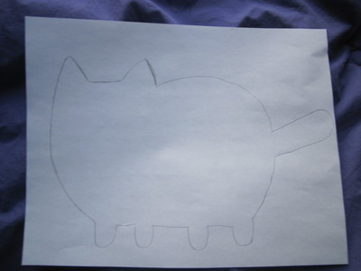 How to make a cat plushie. Pusheen Plushie - Step 2