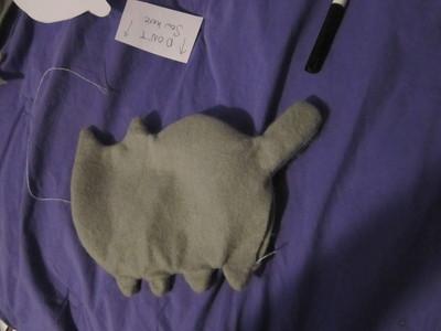 How to make a cat plushie. Pusheen Plushie - Step 14