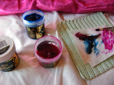 How to make a feather. Dyed Feathers - Step 1