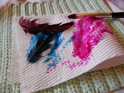 How to make a feather. Dyed Feathers - Step 2