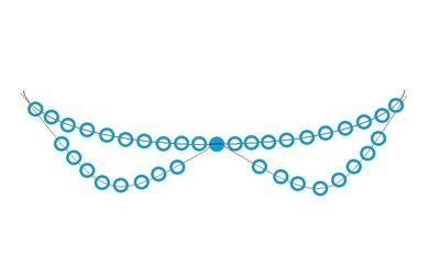 How to make a collar / bib. Pearl Collar - Step 3