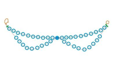 How to make a collar / bib. Pearl Collar - Step 5