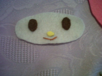 How to sew a fabric character pouch. My Melody Pouch - Step 3