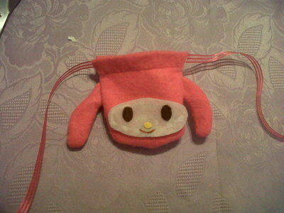 How to sew a fabric character pouch. My Melody Pouch - Step 8