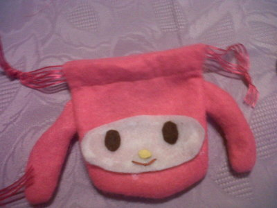 How to sew a fabric character pouch. My Melody Pouch - Step 9