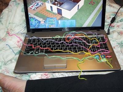 How to make a braided yarn bracelet. Woven Yarn Bracelet   Rainbow - Step 1