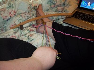 How to make a braided yarn bracelet. Woven Yarn Bracelet   Rainbow - Step 6
