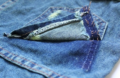 How to make shorts. Stud Poin Pants - Step 3