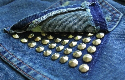 How to make shorts. Stud Poin Pants - Step 9