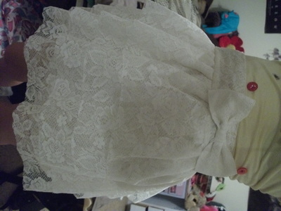 How to make a tiered skirt. Layered Lacy Skirt - Step 7