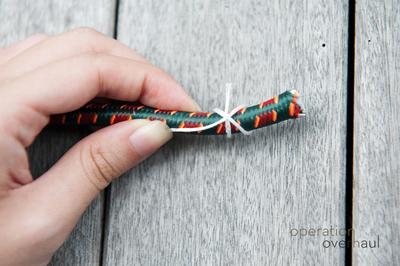 How to make a wrapped bangle. Tribal Bracelets - Step 3