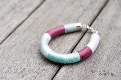 How to make a wrapped bangle. Tribal Bracelets - Step 8
