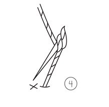 How to stitch a French knot. French Knot - Step 4
