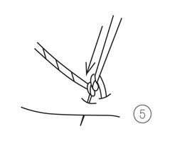 How to stitch a French knot. French Knot - Step 5