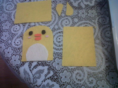How to sew a fabric animal pouch. Diy: Ducky Drawstring - Step 1