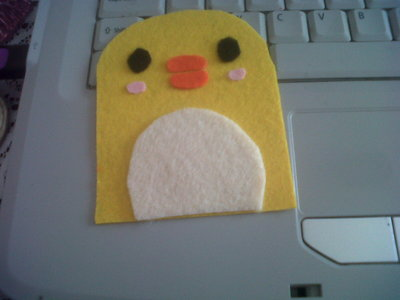 How to sew a fabric animal pouch. Diy: Ducky Drawstring - Step 2