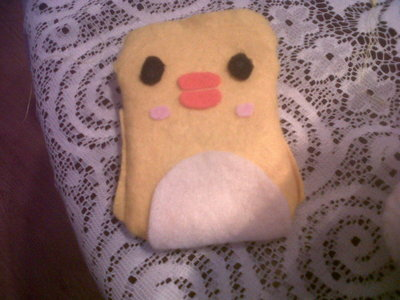 How to sew a fabric animal pouch. Diy: Ducky Drawstring - Step 9