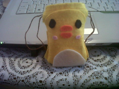 How to sew a fabric animal pouch. Diy: Ducky Drawstring - Step 11