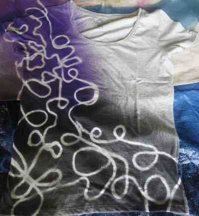 How to dye a t-shirt. Yarn Design T Shirt - Step 4