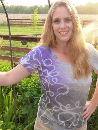 How to dye a t-shirt. Yarn Design T Shirt - Step 5