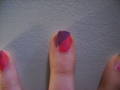 How to paint an animal nail. Funky Half Glittery Leopard Print Nail Design - Step 2