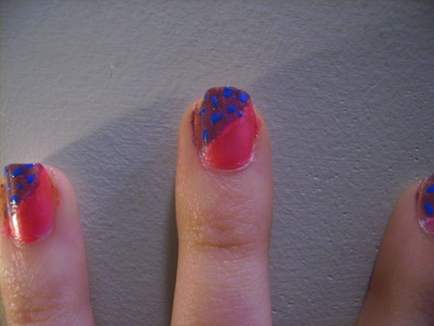 How to paint an animal nail. Funky Half Glittery Leopard Print Nail Design - Step 3