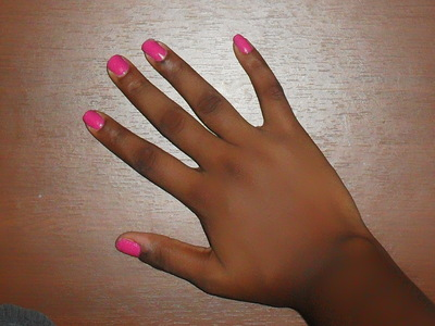 How to paint an animal print nail. Pink Zebra Nails - Step 2