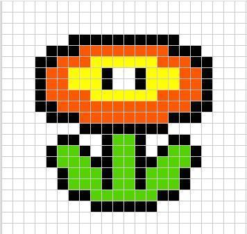Fire flower how to make a beaded flower how to by silene6 - Hama beads cuadros ...