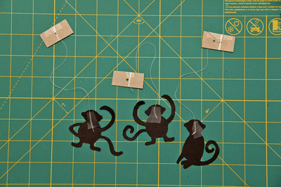 How to make a puppet theatres. Monkey Shadow Theater - Step 5