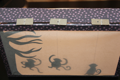 How to make a puppet theatres. Monkey Shadow Theater - Step 6