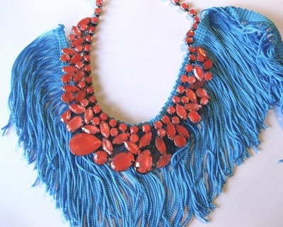 How to make a tassel necklace. Statement Necklace - Step 4