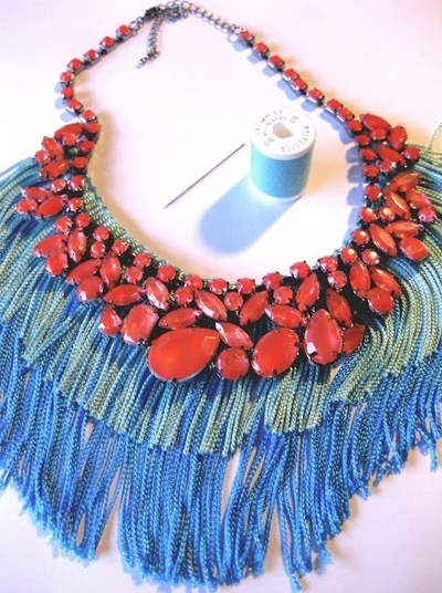How to make a tassel necklace. Statement Necklace - Step 8