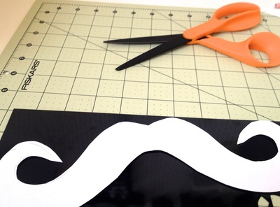 How to make a shrink plastic pendant. Moustache Necklace - Step 3