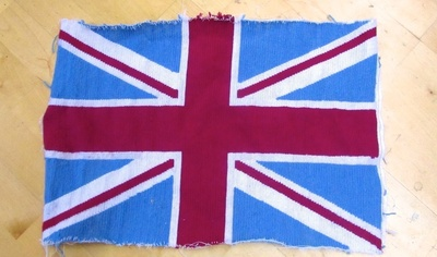 How to make a stitched cushion. Union Jack Tapestry Cushion - Step 9