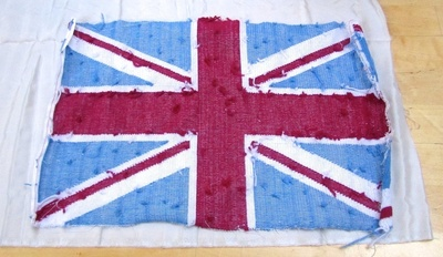 How to make a stitched cushion. Union Jack Tapestry Cushion - Step 10