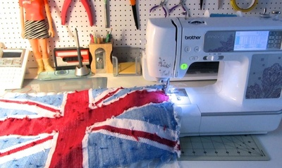 How to make a stitched cushion. Union Jack Tapestry Cushion - Step 12