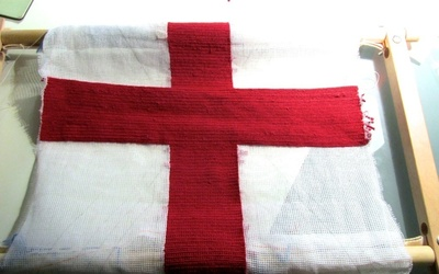 How to make a stitched cushion. Union Jack Tapestry Cushion - Step 6