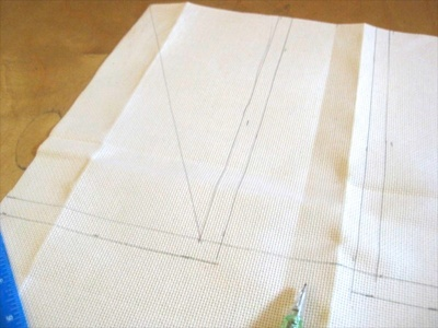 How to make a stitched cushion. Union Jack Tapestry Cushion - Step 1
