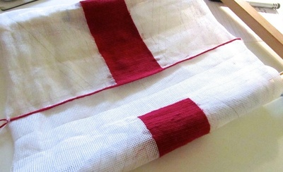 How to make a stitched cushion. Union Jack Tapestry Cushion - Step 5