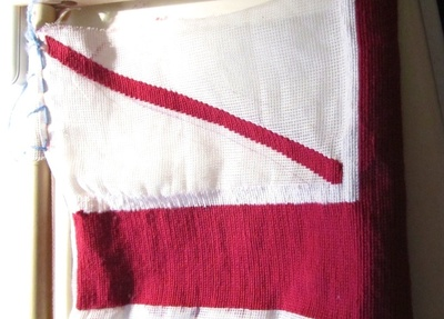 How to make a stitched cushion. Union Jack Tapestry Cushion - Step 8