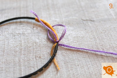 How to make a wrapped bangle. Thread Wrapping - Step 9