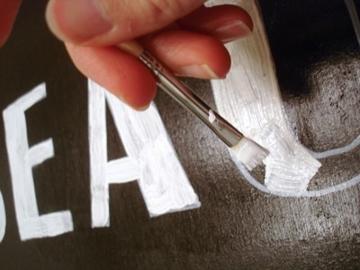 How to make a plaque / sign. How To Hand Letter Signs Like A Pro (Or, At Least, Like Me) - Step 4
