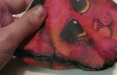 How to sew a fabric animal pouch. Cat Coin Purse - Step 7