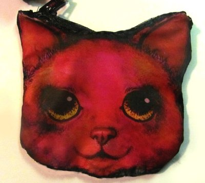 How to sew a fabric animal pouch. Cat Coin Purse - Step 8