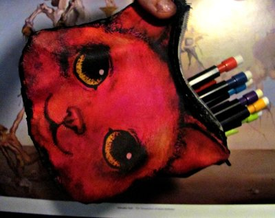 How to sew a fabric animal pouch. Cat Coin Purse - Step 9