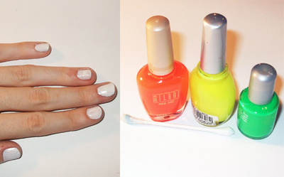 How to paint an animal print nail. Neon Zebra Nails! - Step 2