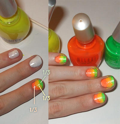 How to paint an animal print nail. Neon Zebra Nails! - Step 3
