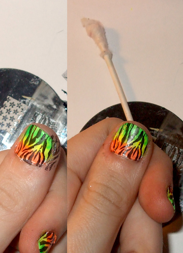 How to paint an animal print nail. Neon Zebra Nails! - Step 5