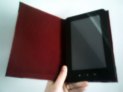 How to make a tablet sleeve. Tablet Book Cover - Step 7