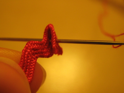 How to make a lace hair bow. Lovely Rose And Lace Hairpin - Step 3